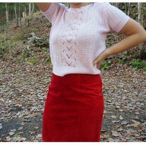 Vintage - Baby pink boat neck sweater